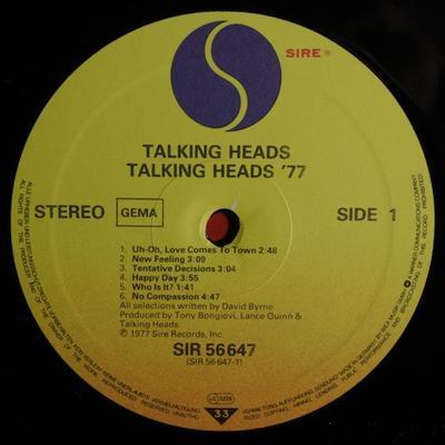TALKING HEADS: 77 German Original Pressing