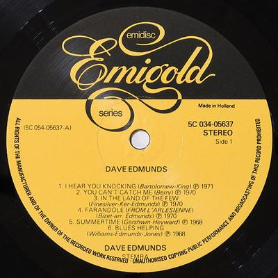 DAVE EDMUNDS & THE LOVE SCULPTURES