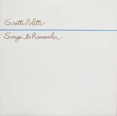 SONGS TO REMEMBER First Pressing With Embossed Sleeve