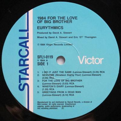 1984 (FOR THE LOVE OF BIG BROTHER)
