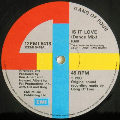 IS IT LOVE (EXTENDED DANCE MIX) UK Pressing