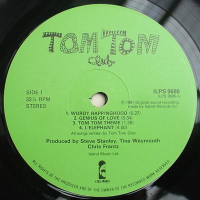 TOM TOM CLUB UK Pressing