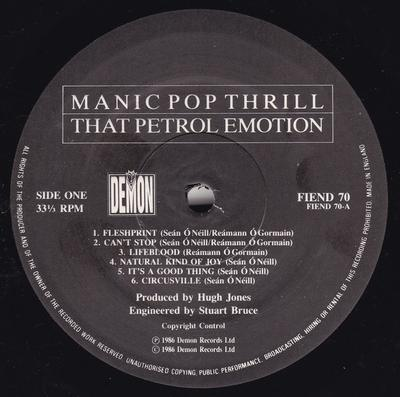 MANIC POP THRILL UK Pressing - Comes With Innersleeve