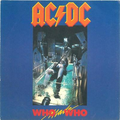 "AC/DC - WHO MADE WHO / GUNS FOR HIRE (LIVE VERSION) German ps (7"")"
