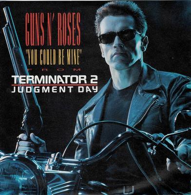 "GUNS N' ROSES - YOU COULD BE MINE / CIVIL WAR German ps, ""Terminator 2"" ps (7"")"