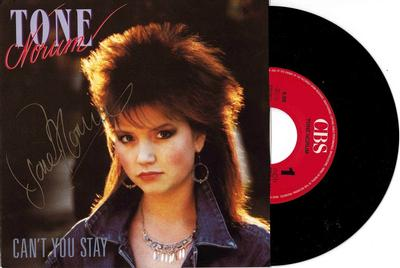 """NORUM, TONE - CAN''T YOU STAY / Playing With Fire Signed by Tone Norum (7"""")"""
