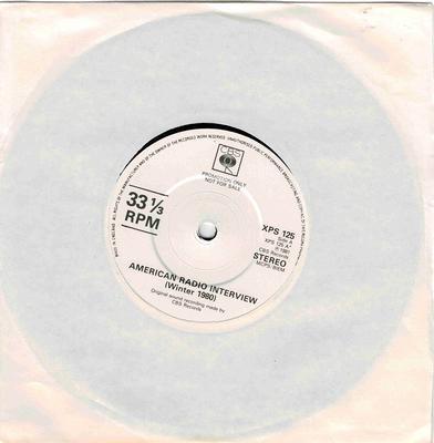 "THE SLITS - AMERICAN RADIO INTERVIEW / Face Dub Rare 1981 freebie single (7"")"