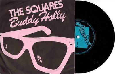 "THE SQUARES - BUDDY HOLLY UK 1980 Neo Mod Powerpop, Rare (7"")"