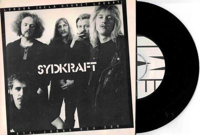 """SYDKRAFT - LONDON (HELA DYGNET LADDAT) / Äta, Jobba Och Sov Rare 1979 surf punk (7"""")"""