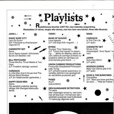 """VARIOUS ARTISTS (POP / ROCK) - SOUND AFFECTS PLAYLISTS Three Flexis Filled With 90's Indie Hits! See Description For List! (7"""")"""