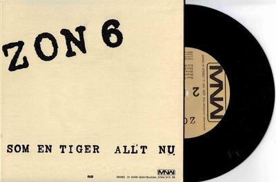 """ZON 6 - SOM EN TIGER / Allt Nu Rare 1983 Postpunk (7"""")"""