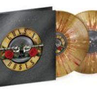 GUNS N' ROSES - GREATEST HITS Limited gold vinyl with red/white splatter. (2LP)