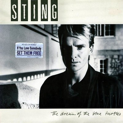 STING - THE DREAM OF THE BLUE TURTLES German pressing, tiny toc of price sticker (LP)