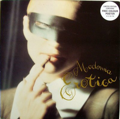 "MADONNA - EROTICA European Pressing With Rare Giant Poster (12"")"