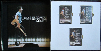 SPRINGSTEEN, BRUCE - LIVE/1975-85 Cassette Box, European Pressing, Complete With & Booklet (CAS)